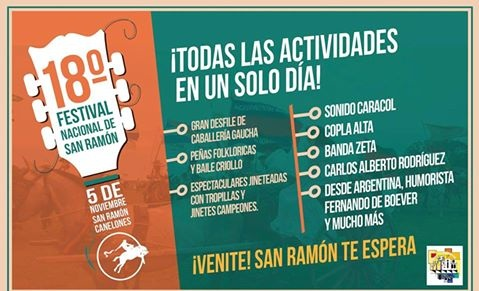 Se viene el Festival Nacional de San Ramón